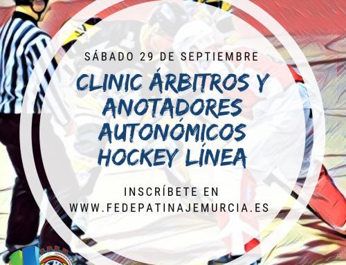 CLINIC ÁRBITROS Y ANOTADORES AUTONÓMICOS HOCKEY LÍNEA