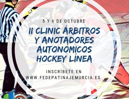 II Clinic de árbitros y anotadores de hockey línea