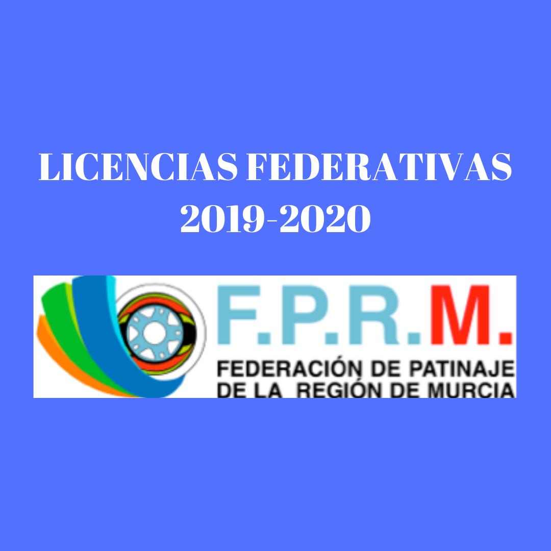 LICENCIAS FEDERATIVAS 2019-2020